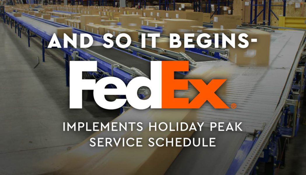 FedEx Implements Holiday Peak Schedule